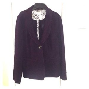 Deep purple plum blazer